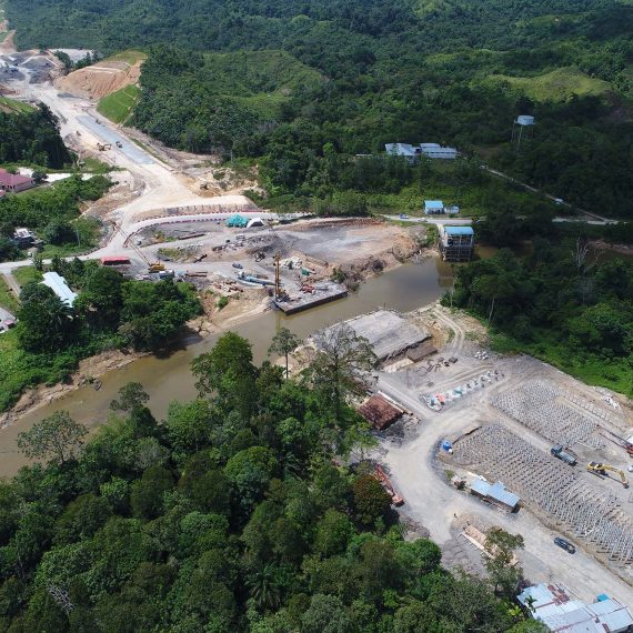 UAV highway construction progress