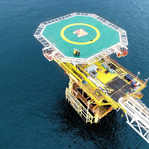 UAV Oil and Gas Inspection Platform Offshore